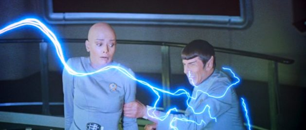V'ger's probe attacks Spock while Ilia realizes she's about to be written out of the movie.