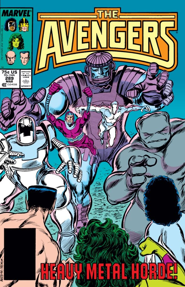 Cover to Avengers #289