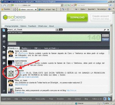 Cliente Twitter hecho en Silverlight