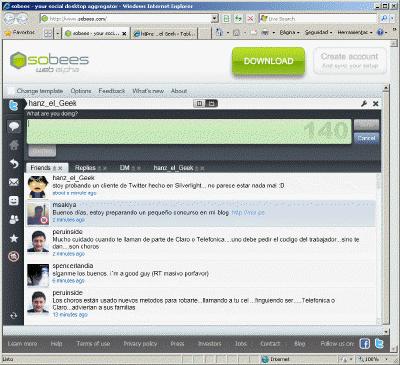 Cliente Twitter en Silverligth