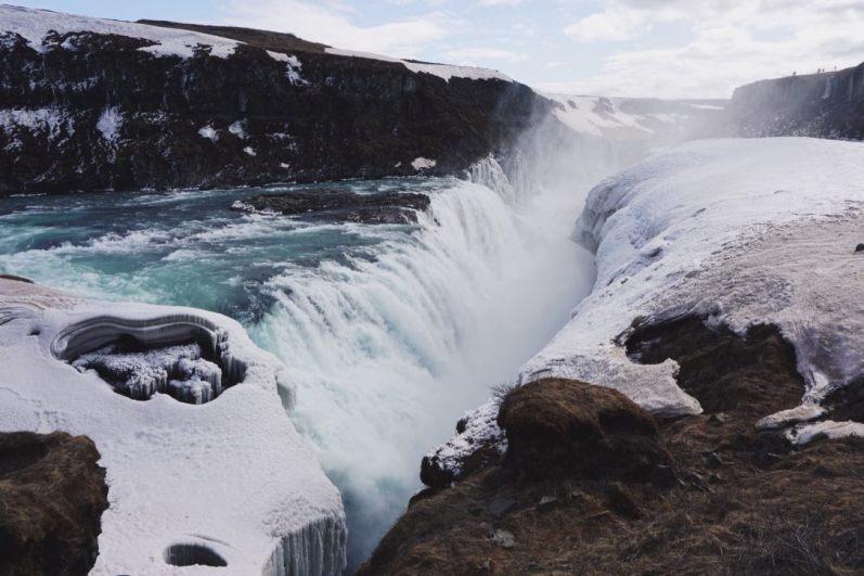 ijsland waterval