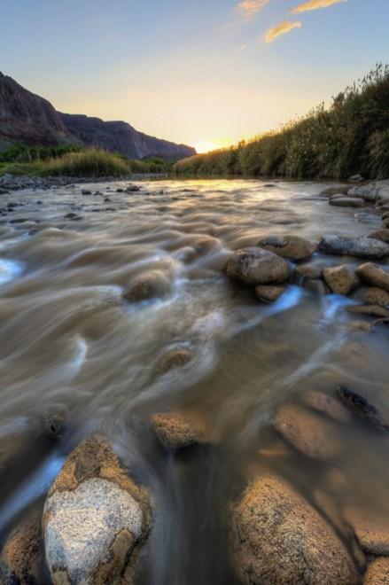 Rio Grande River at Sunset