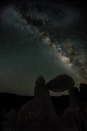 Balanced Rock Night Sky