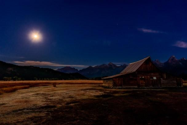 Moonlit Barn