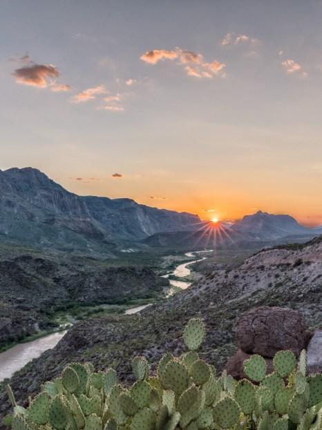 Sunset on the Rio Grande