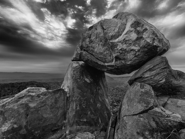 Clouds over Balanced Rock