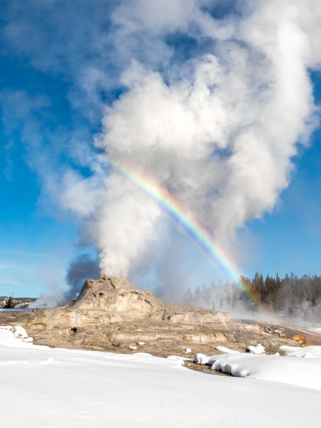 Rainbow over Castle Geyser