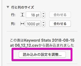 ③キーワードプランナーのダウンロードファイル
