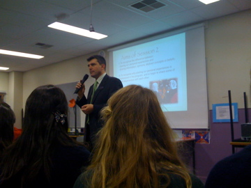 Tim Kitchen Presenting at  Building Bridges Interfaith session