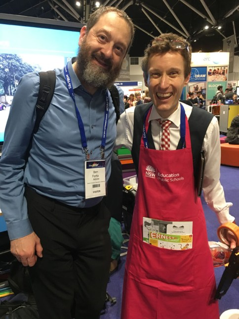Ben meeting teh wonderful Joachim Cohen from NSW DoE
