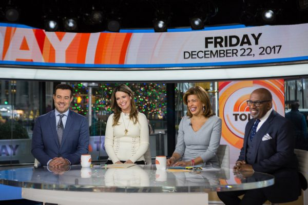 TODAY -- Pictured: Carson Daly, Savannah Guthrie, Hoda Kotb and Al Roker on Friday, December 22, 2017 -- (Photo by: Nathan Congleton/NBC)
