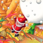 "Illustrations of ""Jingle bell, Snowfall, Santa Claus, Big city"""