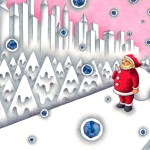 "Illustrations of ""White Christmas, Santa Claus, Snow, Snow scene"""