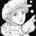 "Illustrations of ""Boy, Tear, Snowfall, Cold night, Wfarewell"""