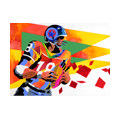 """Illustrations of """"American Football・American rugby・American football """""""