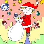 "Illustrations of ""Santa Claus, Christmas present, Xmas, Noel"""