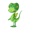 "Illustrations of ""Lizard, Gecko, Reptiles, Chameleon, Fairy"""