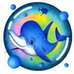 "Illustrations of ""Cute dolphin, Sea animals, Aquatic animals, Mammalian"""