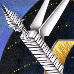 "Illustrations of ""Zebra, Spaceship, Outer space, Alien, Invader"""