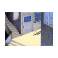 "Illustrations of ""Classroom, Ghost, Teleportation, Stairs, Different dimension"""