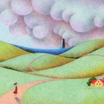 "Illustrations of ""Hill, Rural landscape, Road, Cloud cover"""