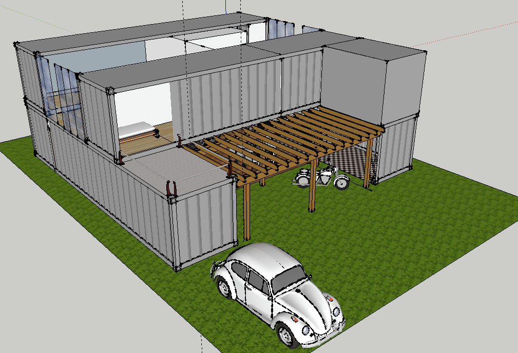 Container house shanghai metal corporation for Container home design software