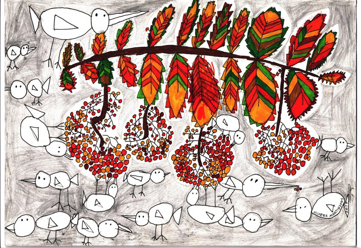 Putnu kalns - skice