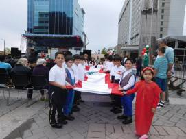 fest 2016 kids carrying the flag