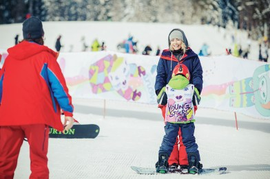 Sony Xperia Snowboard: Akadémia Yong Stars s Bašou