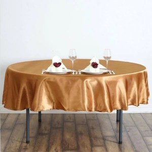 Round Satin Overlay Rental in Gardena