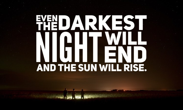 Even the darkest night will end and the sun will rise, Victor Hugo, Les Miserables, breathtaking inspirational book quotes