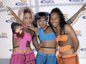 """T-Boz, Lisa """"Left Eye"""" Lopes and Chilli of TLC during Nickelodeon's 12th Annual Kids Choice Awards at UCLA Pauley Pavillion in Westwood, California, United States. (Photo by Ron Galella/WireImage)"""