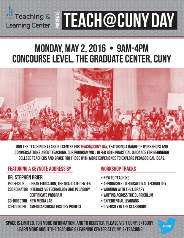 Teach@CUNY Day Flyer