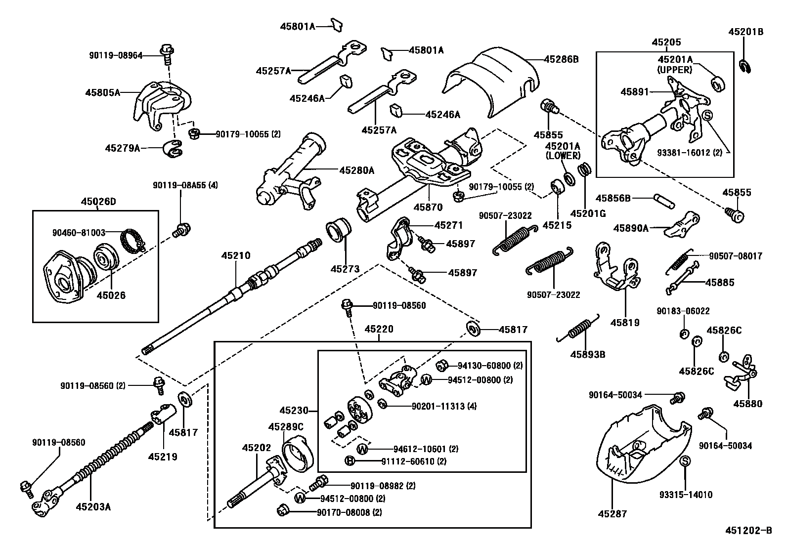 Steering Column Amp Shaft Manual Tilt