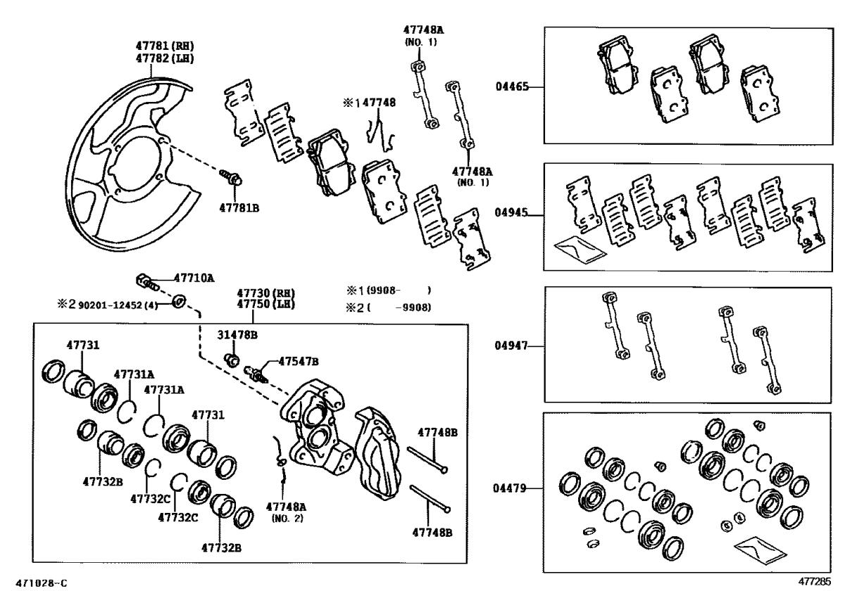 Rear Brakes Refurb Parts List Tlc Faq