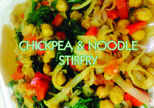 Recipe of the Week:  Chickpea and Vegetable Shirataki Noodle Stir Fry