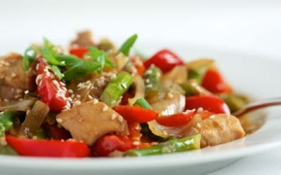 Recipe of the Week:  Sesame Chicken with Asparagus