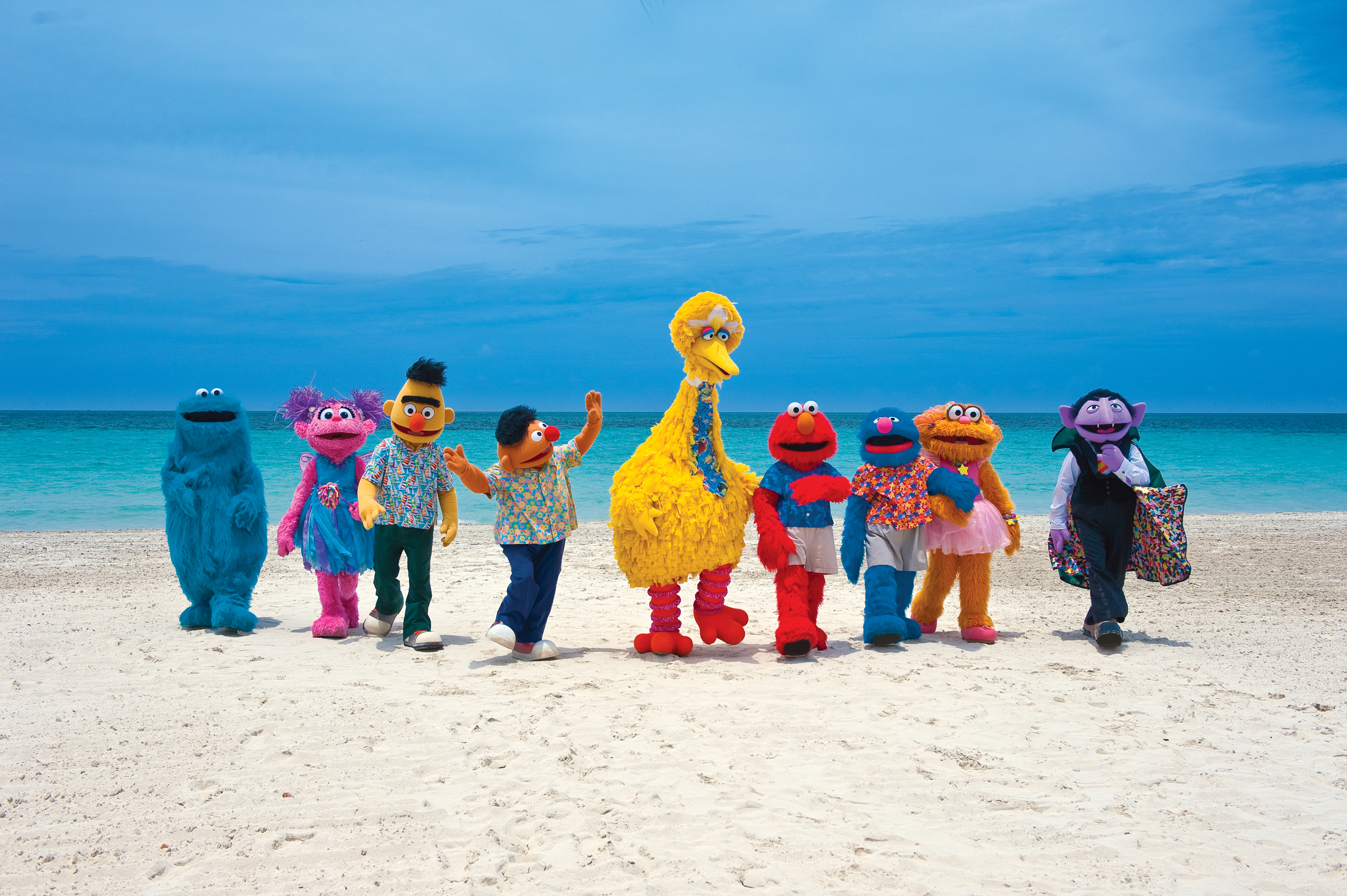 Beaches Resorts Welcomes Walkaround Julia to Their Sesame Street Team in Jamaica and Turks & Caicos!