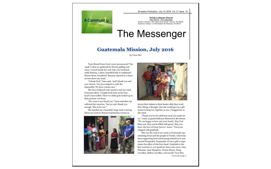 July 15, 2016 Messenger