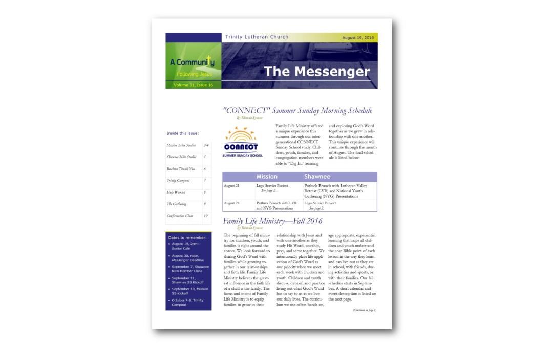 August 19, 2016, Messenger