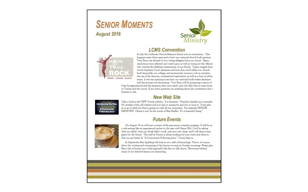 Senior Moments August 2016