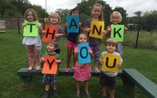 Thank you from the Preschool