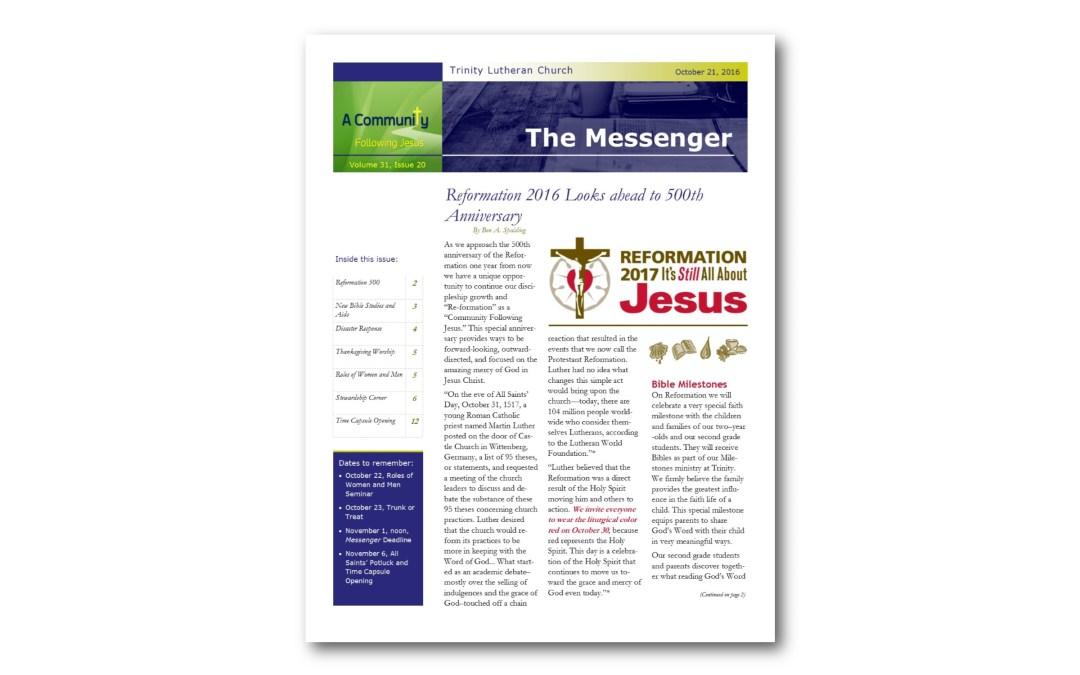 October 21, 2016, Messenger