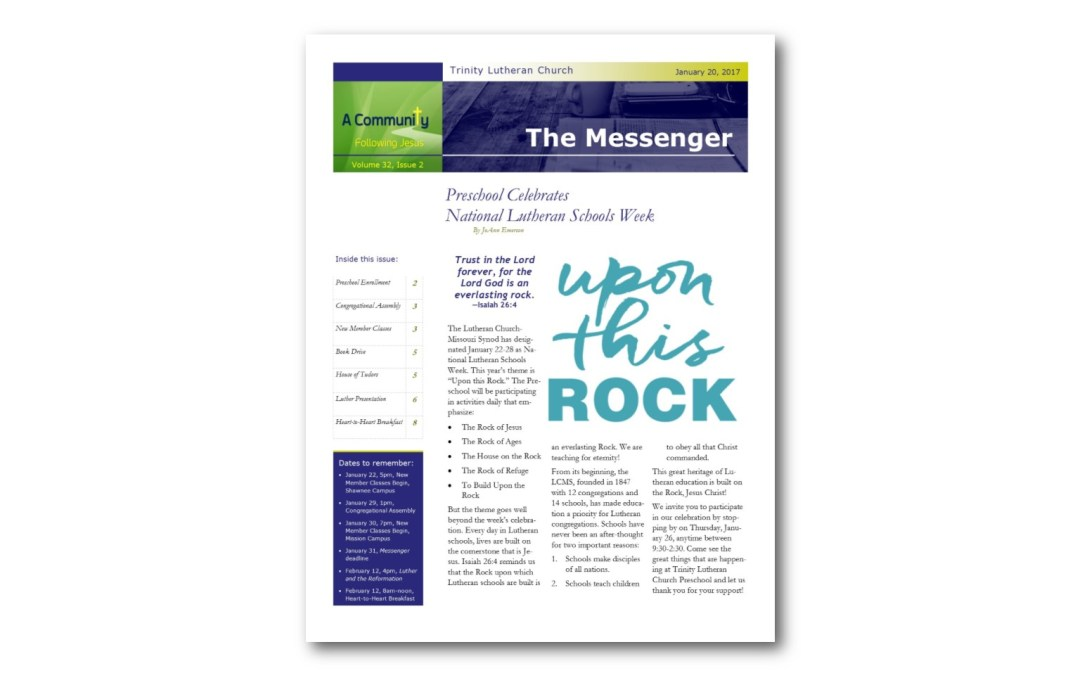 January 20, 2017, Messenger