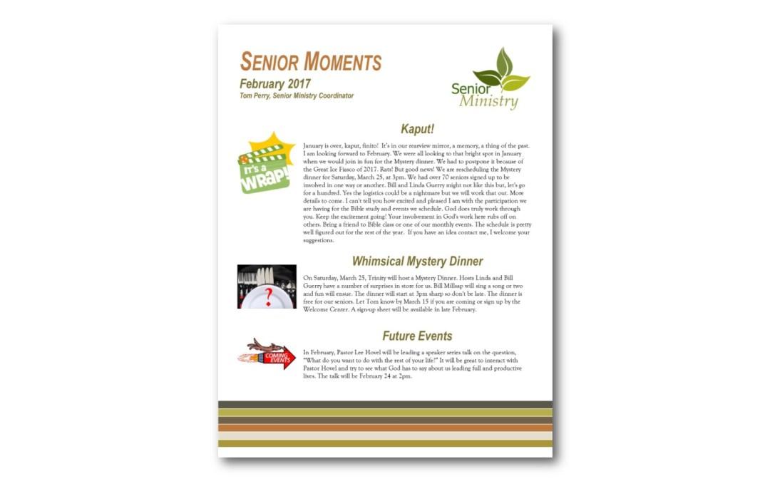 February 2017 Senior Moments Newsletter