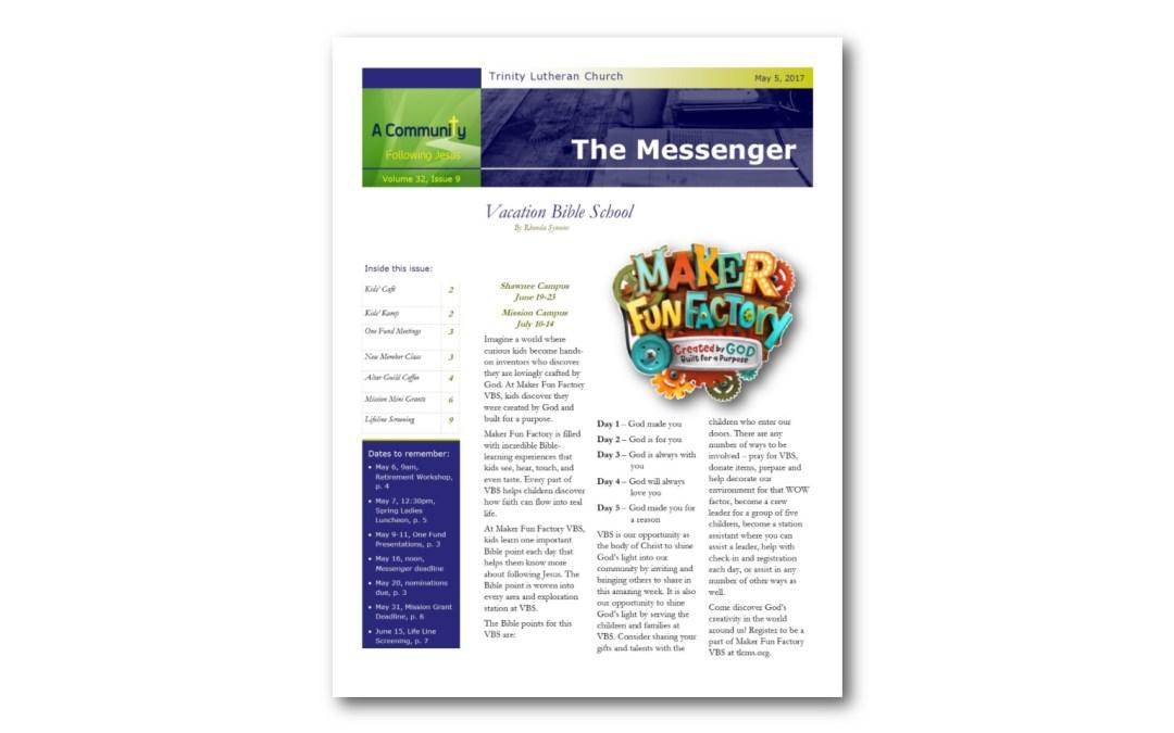 May 5, 2017, Messenger