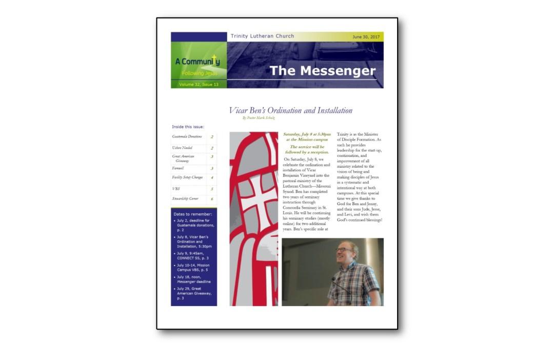 June 30 Trinity Messenger