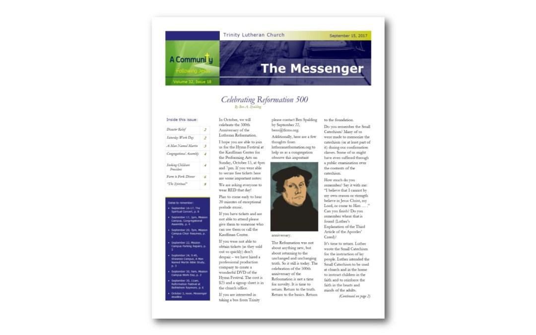 September 15 Trinity Messenger