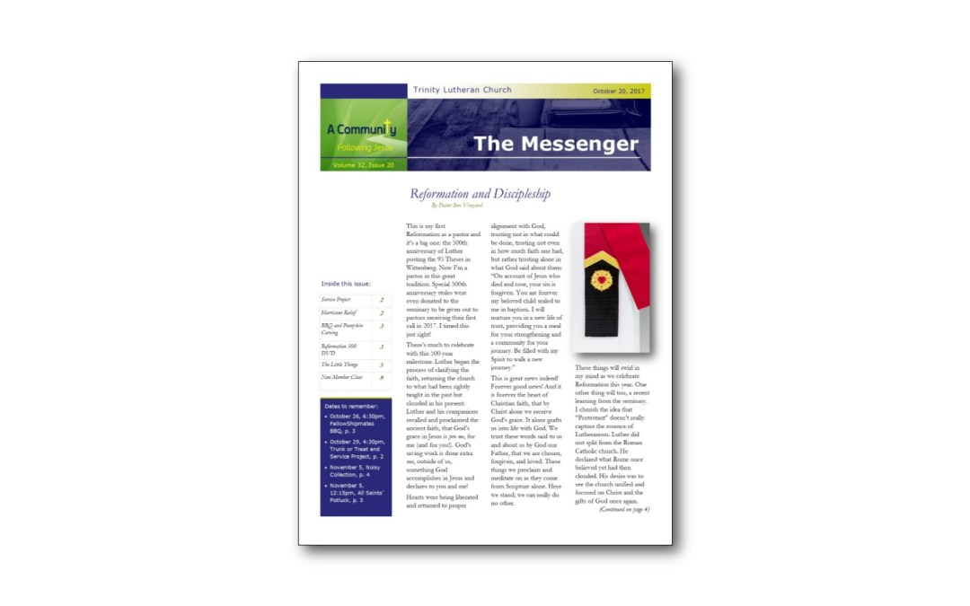 October 20 Trinity Messenger
