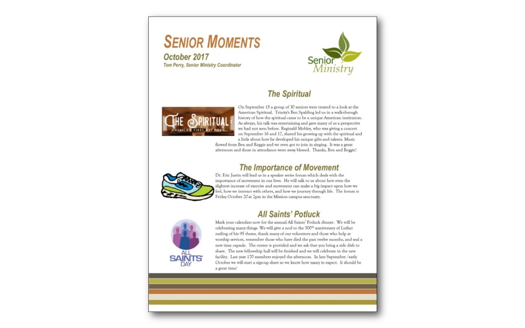 October 2017 Senior Moments